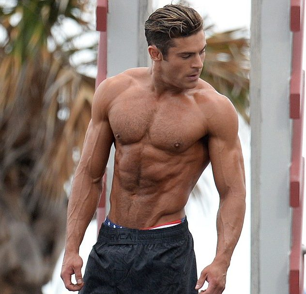 Zac Efron looking shredded