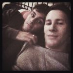 Tom Daley & Dustin Lance Black in bed Instagram