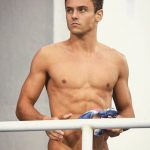 Tom Daley Rio pecks serious face