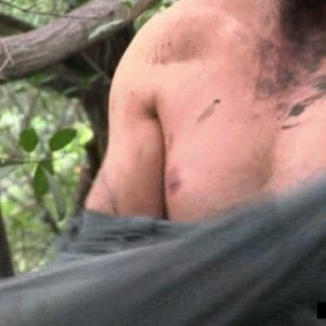 Bear Grylls chest nude