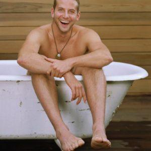 Bradley Cooper tub nude