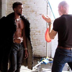 Chadwick Boseman chest nude