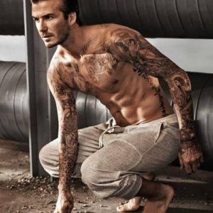 David Beckham sexy shirtless photo sexy