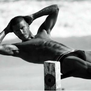 David Beckham uncut penis nude