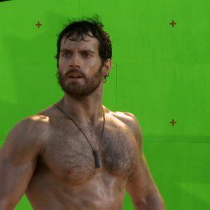 Henry Cavill masturbating shirtless