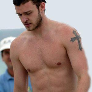 Justin Timberlake cock shirtless