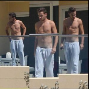 Liam Payne ripped muscles bulge