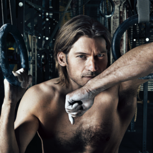Nikolaj Coster-Waldau masturbating shirtless