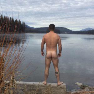 Simon Dunn bum nude