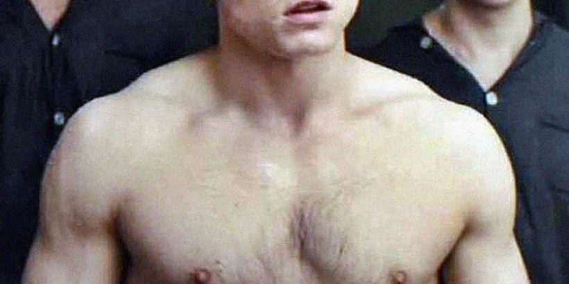 Taron Egerton chest chest
